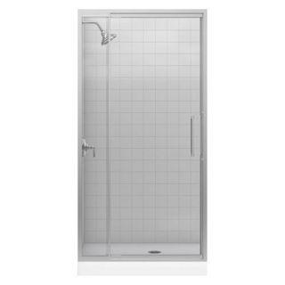 Kohler K 705804 Lattis 76 H x 39 W Pivot Shower Door with 1 4 Thick Glass