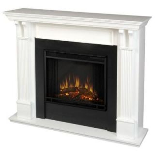 Real Flame Ashley 48 in. Electric Fireplace in White 7100E W