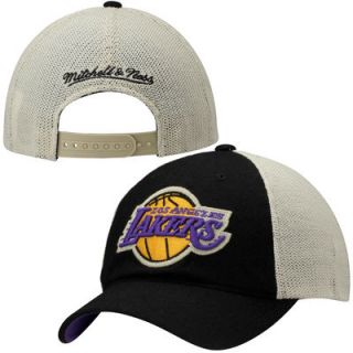 Los Angeles Lakers Mitchell & Ness Meshback Slouch Adjustable Hat   Black