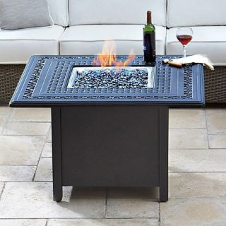 Whitecraft by Woodard Augusta Woodland Square Firepit   Fire Pits