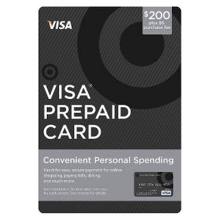 200GC $6 FEE $200 VISA PREPAID CARD