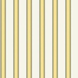 The Wallpaper Company 56 sq. ft. Yellow and White Traditional Stripe Wallpaper WC1280433