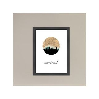 PaperFinch Designs Montreal Map Skyline by Amy Braswell Framed Graphic