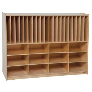 Wood Designs Tip Me Not Portfolio Storage Center 32 Compartment Cubby