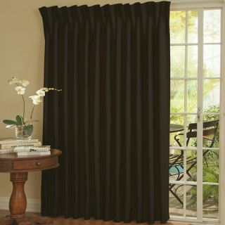 Eclipse Curtains Patio Door Rod Pocket Window Single Curtain Panel