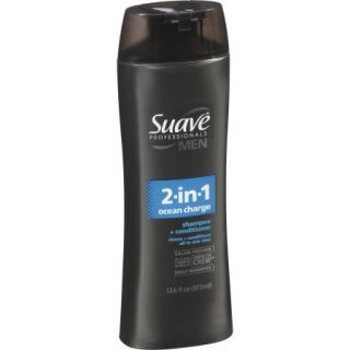 Suave Professionals Men Ocean Charge 2 in 1 Shampoo + Conditioner, 12.6 oz