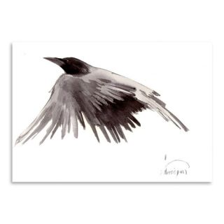 Flying Raven Painting Print by Americanflat