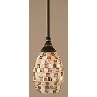 Toltec Lighting Stem Mini Pendant With Hang Straight Swivel; Dark Granite