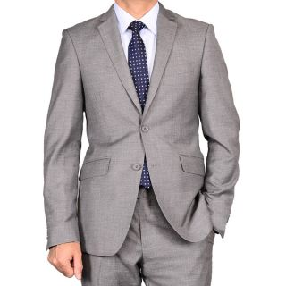 Mens Charcoal Gray 2 button Slim fit Suit