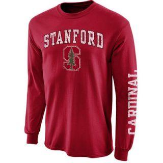 Stanford Cardinal Arch & Logo Long Sleeve T Shirt   Cardinal
