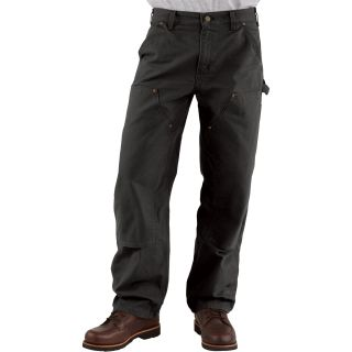 Carhartt Double-Front Work Dungaree — 44in. Waist x 30in. Inseam, Moss, Model# B136  Dungarees