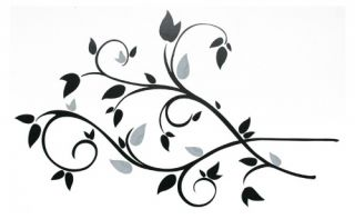 Scroll Branch Foil Leaves Removable Wall Decals   49W x 28H in.   Wall Decals