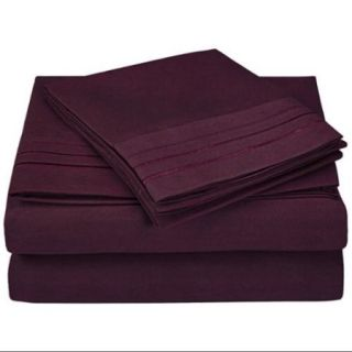 3000 Series Microfiber Sheet Set with 3 Line Embroidery