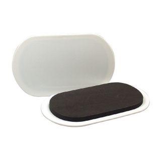 Waxman 4 Pack 9 1/2 in x 5 3/4 in Oval Reusable Plastic Carpet Slider