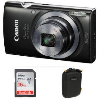 Canon PowerShot ELPH 160 Digital Camera Basic Kit (Black)