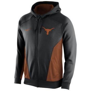 Texas Longhorns Nike Basketball Full Zip Performance Hoodie – Black