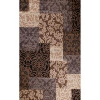 Concord Global Trading Matrix Collection Vintage Damask 5 ft. 3 in. x 7 ft. 3 in. Area Rug 93385