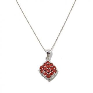 "Colleen Lopez ""Gracious Glamour"" 3.08ctw Red Orange Sapphire Sterling Silver Cl   8122962"