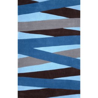nuLOOM Modern Abstract Vintage Blue Area Rug (710 x 1010)