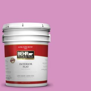 BEHR Premium Plus 5 gal. #680B 4 Pressed Flower Zero VOC Flat Interior Paint 140005