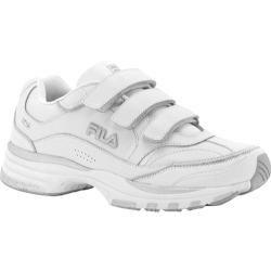Mens Fila Comfort Trainer Adjustable White/White/Metallic Silver