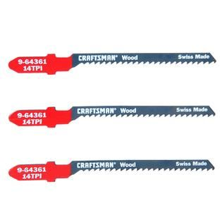 Craftsman 3 In. Jigsaw Blades, Wood, 14 TPI, 3 Pk: Details at