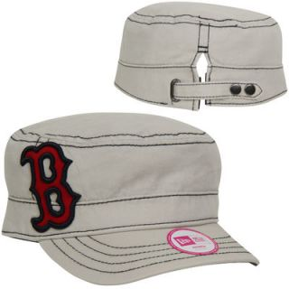 New Era Boston Red Sox Womens Chic Cadet Adjustable Hat   Stone