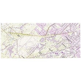 JAM Paper #10 Business Envelopes, 4 1/8 x 9 1/2, Made from Real Surplus Maps, 25/pack (163729)