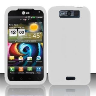 Insten White Silicone Soft Skin Case Cover For LG Connect 4G MS840/Viper 4G LS840