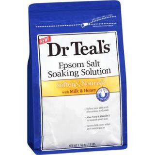 Dr Teal's Soften & Nourish with Milk & Honey Pure Epsom Salt Soaking Solution, 3 lbs