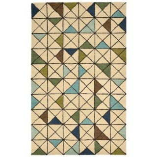 Liora Manne Inca 9447/04 Triangle Aqua Area Rug 42 Inches X 66 Inches
