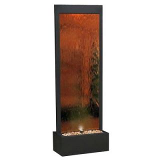 Alpine Mirror Water Fall Bronze Fountain with Decorative Stones and Light MLT100