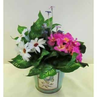 Silkmama Spring Primula and Daisy Planter