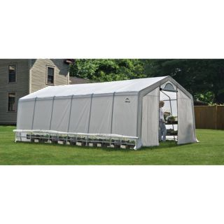 ShelterLogic GrowIt Heavy Duty Walk Thru 12 Ft W x 24 Ft D Greenhouse