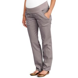 Oh! Mamma Maternity Demi Panel Classic Stretch Twill Bootcut Career Pants
