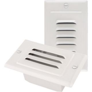 NICOR LED Step Light with Horizontal and Vertical, Paintable Faceplates