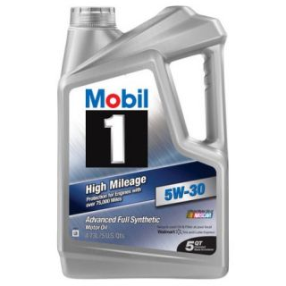 Mobil 1 5W 30 High Mileage Full Synthetic Motor Oil, 5 qt.