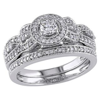 CT. T.W. Diamond Bridal Set Ring 10K White Gold (GH) (I2 I3