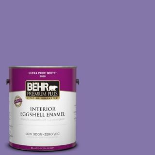 BEHR Premium Plus 1 gal. #640B 6 Grape Parfait Zero VOC Eggshell Enamel Interior Paint 230001