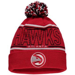 Atlanta Hawks adidas Energy Stripe Cuffed Knit Hat   Red