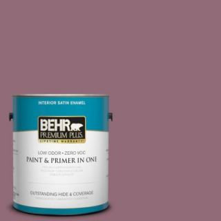 BEHR Premium Plus 1 gal. #S120 6 Full Glass Satin Enamel Interior Paint 730001