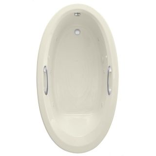 American Standard Ellisse 69.25 in L x 38.5 in W x 19.75 in H Linen Acrylic Oval Whirlpool Tub and Air Bath