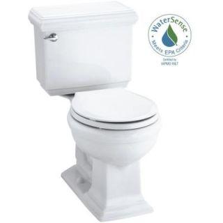 KOHLER Memoirs Classic 2 piece 1.28 GPF Round Toilet with AquaPiston Flushing Technology in White K 3986 0