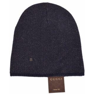 d423ce3786e ... New Gucci 352350 Mens Blue Beige Wool Cashmere Beanie Ski Winter Hat ...
