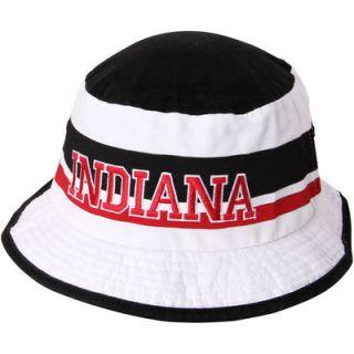 Indiana Hoosiers adidas Stripe Bucket Hat   White