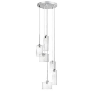 Radionic Hi Tech Industrial Chic 6 Light Polished Chrome Round Pendant IC 106P PC