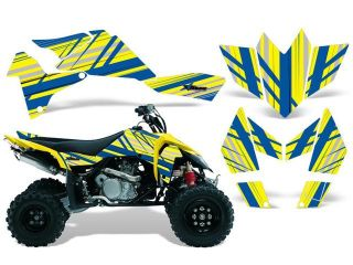 2006 2009|Suzuki|LTR|450::AMRRACING ATV Graphics Decal Kit:Inline Blue Yellow