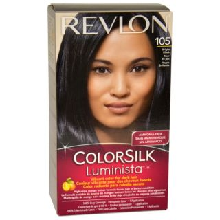Revlon Colorsilk Luminista #105 Bright Black Hair Color   14914979