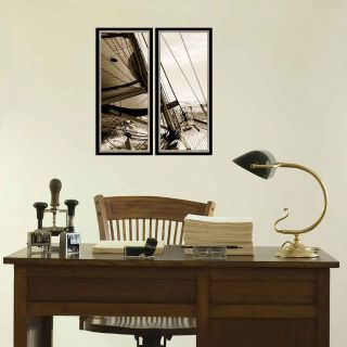 Sailboat 2 Piece Giclée Framed Photographic Print Set by PTM Images