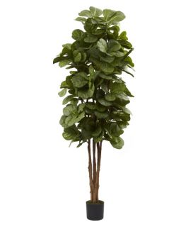 Nearly Natural 6 ft. Fiddle Leaf Fig Silk Tree   Silk Trees and Palms